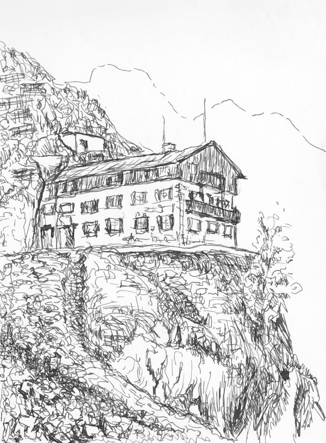 Een Kleurplaat Van Dieren Drawings Of Landscapes Beelden Uitdela