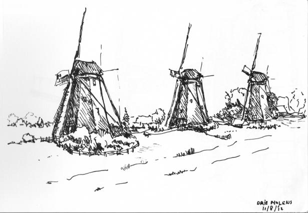 Drie molen bij Wilsveen