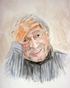 portret, aquarel