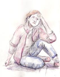 Hetty, model, kleurpotlood